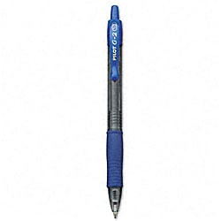 Pilot G2 Blue Gel Ink Rollerball Refillable Pens (Pack of 12)