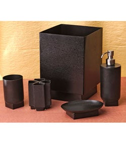 Salsa Black Nickel Bathroom Accessories Set Of 5 Free Shipping On Orders Over 45
