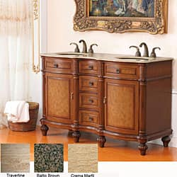 58 Inch Double Sink Bathroom Vanity
