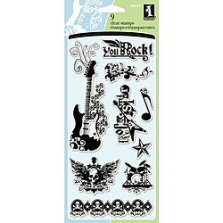 Inkadinkado 'Rock Star' Clear Stamps. Opens flyout.
