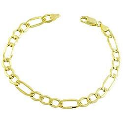 Fremada 14k Yellow Gold Figaro Bracelet