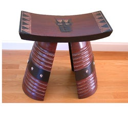 Hand-finished Modern Fante Royal Stool (Ghana)