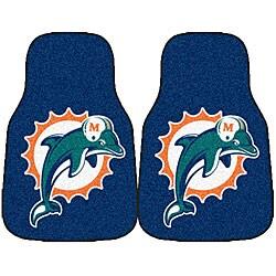 Fanmats NFL Miami Dolphins 2-piece Car Mat Set