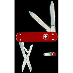 Swiss Army Esquire 5-tool Red Money Clip Knife - Thumbnail 0