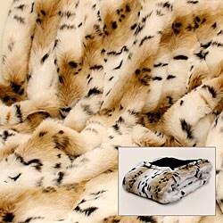 Lynx Faux Fur Throw - Thumbnail 0