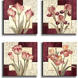 Pamela Gladding 'Trio Sonata' 4-piece Canvas Art Set