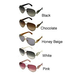 b496b02cfd17 Shop Fendi FS 411 Aviator Sunglasses with Buckle - Free Shipping ...