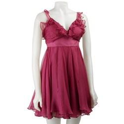 Walter Women's Berry Chiffon Party Dress - Thumbnail 0