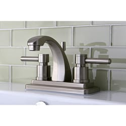 Concord 4-inch Satin Nickel Centerset Bathroom Faucet