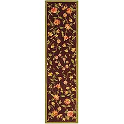 Safavieh Hand-hooked Garden Burgundy Wool Runner (2'6 x 10')
