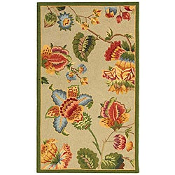 Safavieh Hand-hooked Transitional Sage Wool Rug (2'9 x 4'9)