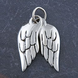 Sterling Silver 'Wings' Pendant (Thailand) - Thumbnail 0