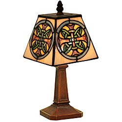 Tiffany-style Mission Iris Accent Lamp