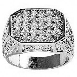 Simon Frank Mens .67 Equal Diamond Weight Gold Overlay Pave CZ Men's Ring