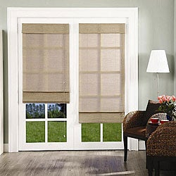 Chicology Roman Shade Jute Fabric Privacy Nevada Timberwolf Grey (60-inch x 72-inch )