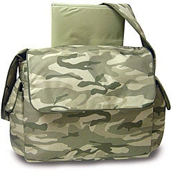 Pretty Baby Green Camouflage Diaper Bag