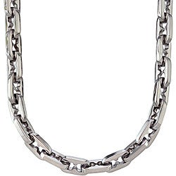 Stainless Steel Men's Razor-style Necklace