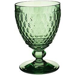 Villeroy & Boch Boston Green Claret Wine Glasses (Set of 4)