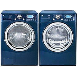 Shop Lg Front Load Blue Steam Washer And Gas Dryer Combo