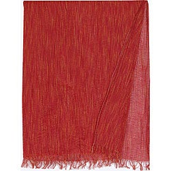Wooded River Red Sheer Throw Blanket (Italy)