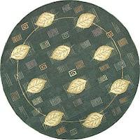 Safavieh Handmade Foliage Blue Wool Rug - 5' x 5' round