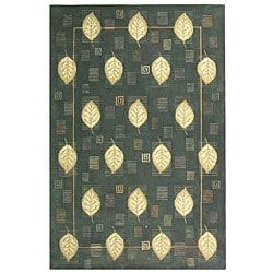 Safavieh Handmade Foliage Blue Wool Rug - 3'9 x 5'9 - Thumbnail 0