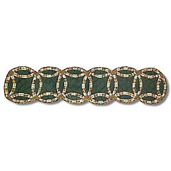 Green Double Wedding Ring 72-inch Table Runner
