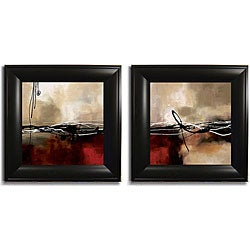 Maitland 'Symphony in Red I and II'  Framed Set