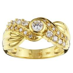 Kabella 18k Gold 1/2ct TDW Diamond Swirl Ring (G-H, SI) (Size 6.75)