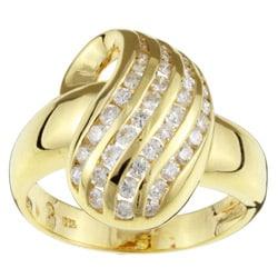 Kabella 18k Yellow Gold 1/2ct TDW Diamond 'Raindrop' Ring (H, I) (Size 6.25)