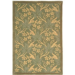 Safavieh Handmade Oasis Blue Wool Rug (3'9 x 5'9)
