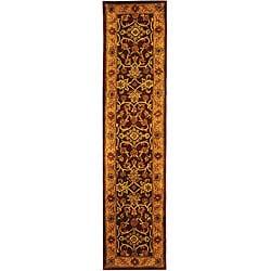 Safavieh Handmade Golden Jaipur Burgundy/ Gold Wool Runner (2'3 x 10')