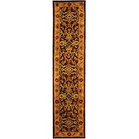 Safavieh Handmade Golden Jaipur Burgundy/ Gold Wool Runner Rug - 2'3 x 10'