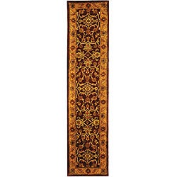 Safavieh Handmade Golden Jaipur Burgundy/ Gold Wool Runner (2'3 x 8')