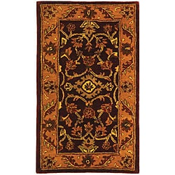 Safavieh Handmade Golden Jaipur Burgundy/ Gold Wool Runner (2'3 x 4')