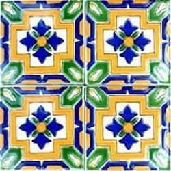 Grenada Accent Ceramic Tiles (Set of 9)