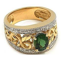 Michael Valitutti 14k Gold Tourmaline/ 1/10ct TDW Diamond Ring