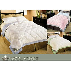 Shop Royal Velvet 320 Thread Count Embroidery Down Blanket