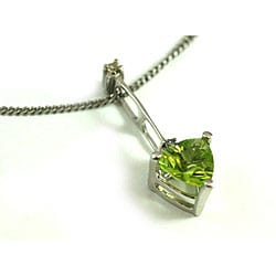 Michael Valitutti 14k Trillion-cut Peridot Diamond Necklace