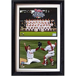 Phillies 2008 World Series Framed Double Photo - Thumbnail 0