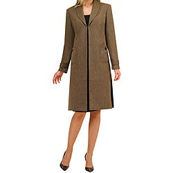 Audrey B Women's Plus Size Dress Suit/ Long Coat - Free Shipping