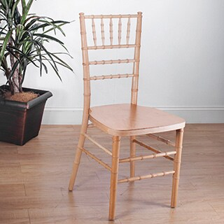 Stackable Natural Ballroom Chairs (Set of 2)