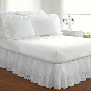 Ruffled Lauren Eyelet 18-inch Bedskirt|https://ak1.ostkcdn.com/images/products/P11720125a.jpg?impolicy=medium
