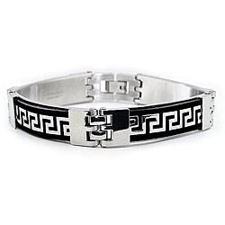 Stainless Steel Men's Greek Key Link Bracelet