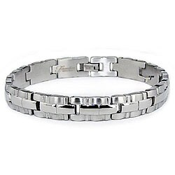 Stainless Steel Men's Shaped Link Bracelet