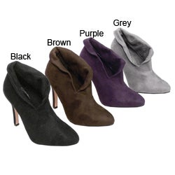 Liliana by Adi Microsuede Open Ankle Demi Boots