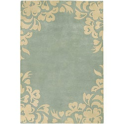 Artist's Loom Hand-tufted Contemporary Floral Wool Rug (5'x7'6) - Thumbnail 0