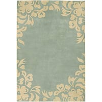 Artist's Loom Hand-tufted Contemporary Floral Wool Rug (5'x7'6)