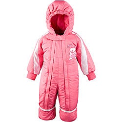 Toddler Girl's 12-month One-piece Pink Snowsuit