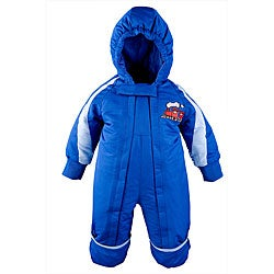 Toddler Boy's One-piece Blue Snowsuit - Thumbnail 0